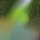 Water Drops. Condensed water drops on glass Royalty Free Stock Photos