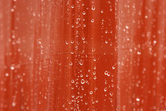 Water drops on curtain Royalty Free Stock Images