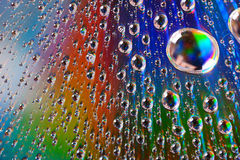 Water Drops On Diffraction Surface Royalty Free Stock Image
