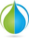 Water drops, drops, leaf, logo. Water drops, drops, leaf, nature logo Stock Photos