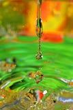 Water-drops falling down Stock Photos