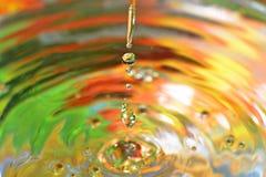 Water-drops falling down Royalty Free Stock Photos