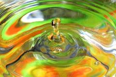 Water-drops falling down Stock Image