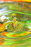 Water-drops falling down Royalty Free Stock Image