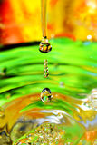 Water-drops falling down Royalty Free Stock Photography
