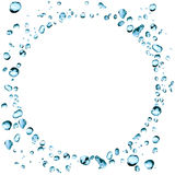 Water Drops Frame Stock Image