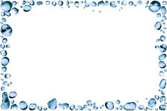 Water Drops Frame. Nice frame made from lot of blue water drops Stock Photography
