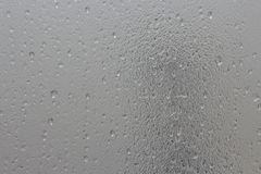 Water drops on frosted glass. With faded shadow Royalty Free Stock Images