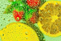 Water Drops and Fruit Royalty Free Stock Photography