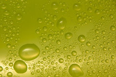 Water drops on glass. Green (Big drops stock illustration