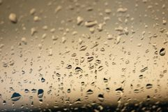 Water drops on the glass Royalty Free Stock Photo