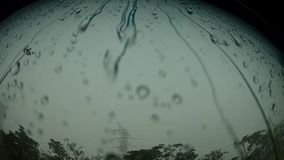 Water drops on the Glass stock footage