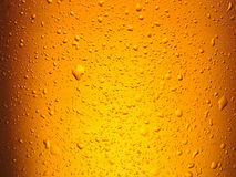 Water drops on glass of beer. Royalty Free Stock Images