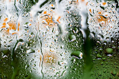 Water drops on glass Stock Photography