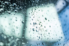 Water drops on glass Royalty Free Stock Images