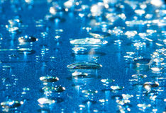 Water drops on Glass Stock Image