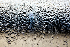 Water Drops on Glass. Close up of water moisture on glass Royalty Free Stock Photos