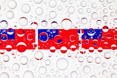 Water drops on glass and flags of Samoa royalty free stock photography