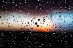 Water drops on glass. After rain royalty free stock image