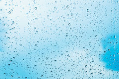 Water drops on glass after rain Royalty Free Stock Image