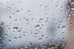 Water drops on the glass. Stock Photo