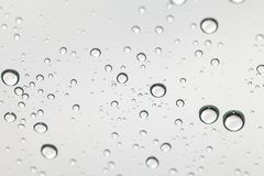 Water drops on glass. Selective focus Royalty Free Stock Photo