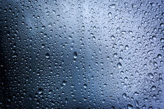 Water drops on glass surface Stock Photos