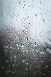 Water drops on glass surface Royalty Free Stock Photography