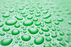 Water drops green Stock Photo