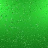 Water drops on green metallic surface. 3d rendering. Graphic illustration. Graphic illustration with water drops Stock Photo