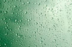 Water drops green Royalty Free Stock Photos