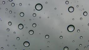 Water Drops and Grey Sky 1 Encinitas California. Encinitas North County San Diego Californian stock footage
