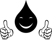 Water drops with hands and smile, drops and water logo Royalty Free Stock Photography