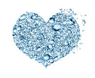 Water Drops Heart Royalty Free Stock Image