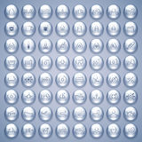 Water Drops Icons Set Stock Image