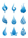 Water Drops Icons Royalty Free Stock Images