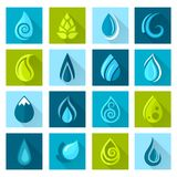 Water Drops Icons Stock Image