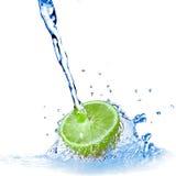 Water drops on lemon Royalty Free Stock Photo