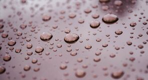 Water drops on metal Royalty Free Stock Images