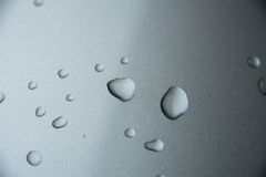 Water drops on metal Royalty Free Stock Photos