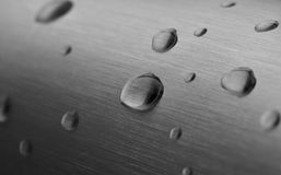 Water Drops on Metal Bar Royalty Free Stock Photos