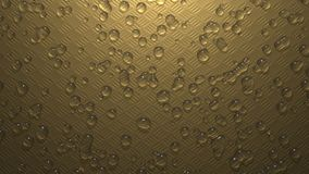 Water Drops Metal Plate Royalty Free Stock Photos
