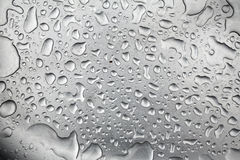 Water drops in metal scullery Royalty Free Stock Photos