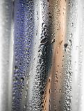 Water drops On metal surface Royalty Free Stock Image