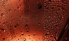 Water drops on metal surface. royalty free illustration