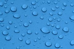 Water drops in metalized surface Stock Photo
