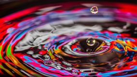 Water Drops mix colors Stock Photo