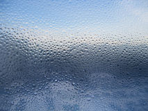 Water Drops On Glass Stock Photo