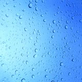 Water Drops On Glass Background Stock Image