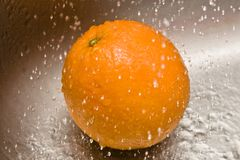 Water Drops - Orange Stock Image